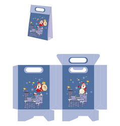 Cute santa claus handbags packages pattern vector