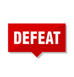 Defeat red tag vector