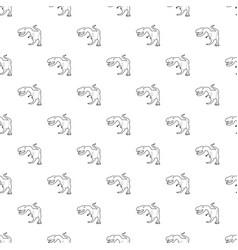 dinosaur tyrannosaur pattern seamless vector image