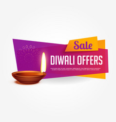 Diwali offer and sale voucher design with vibrant vector