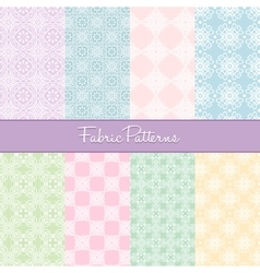 Fabric Patterns vector image