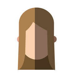 faceless head girl female people image vector image