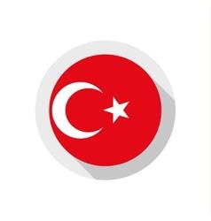 Flag turkey vector