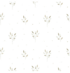 Floral seamless pattern with tiny branches vector