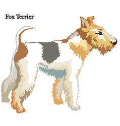 Fox terrier vector