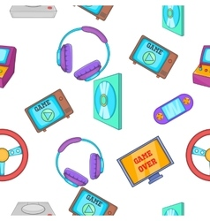 Game console pattern cartoon style vector