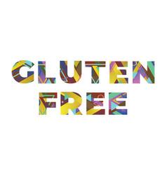 Gluten free concept retro colorful word art vector