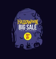 halloween big sale banner vector image