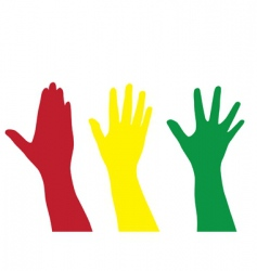 hands silhouettes vector image