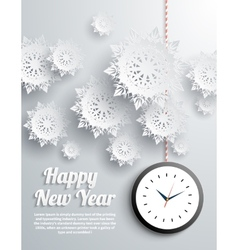 Happy New Year snowflakes vector image