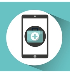 healthcare app first aid graphic vector image