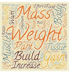 How to gain weight and increase muscle mass text vector