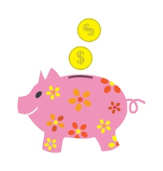 Image of piggy Bank vector