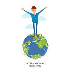International business worldwide communication vector