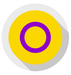 Intersex flag round shape icon on white background vector