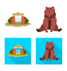 Isolated object nature and fun icon set of vector