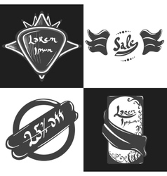 Labels and badges vector