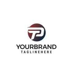 letter p logo design concept template vector image