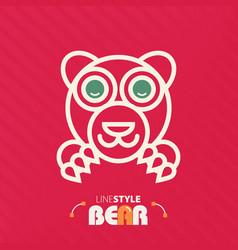 Line style bear vector