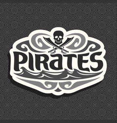 logo for pirate theme vector image
