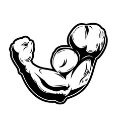 Muscle human hand design element for logo label vector