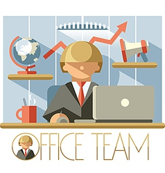 Office Team Director vector