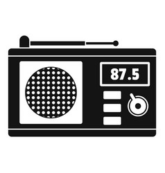 old radio with antenna icon simple style vector image