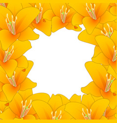 Orange lily border2 vector