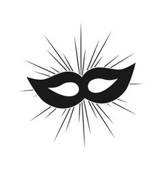 Party mask template design vector