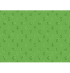 pattern with currency signs vector image vector image