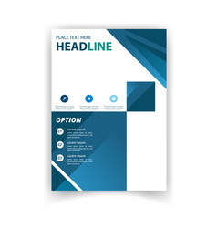 poster modern blue square template design i vector image