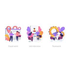 Recruitment concept metaphors vector