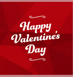 Red abstract background happy valentines day vector
