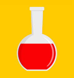 red potion icon flat style vector image