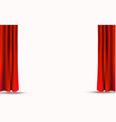 red velvet curtains isolated on white background vector image