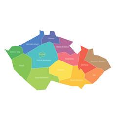 Regions czech republic map regional vector