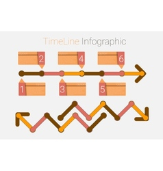 Retro timeline infographic vector
