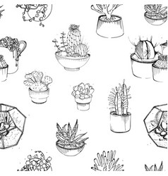 Seamless pattern with various hand drawn vector