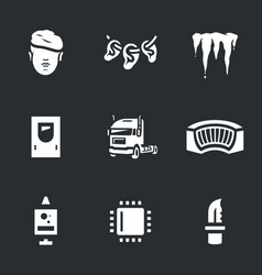 set cryogenic soldier icons vector image