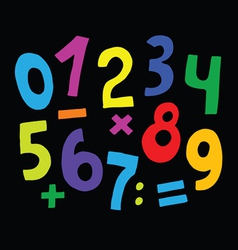 Set of color numbers vector