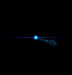 Shape single line light beam spotlight star vector