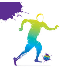 soccer player ready for kicking vector image