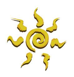 Spiral sun icon vector