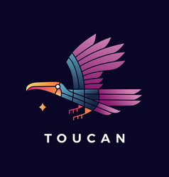 toucan bird gradient logo icon vector image