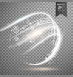 transparent white light effect background vector image vector image