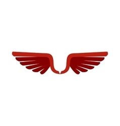 Two red wing birds icon flat style vector