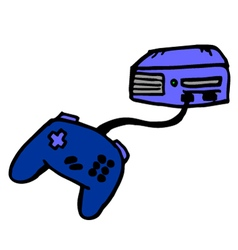 Video game machine vector image