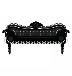 Vintage baroque sofa vector