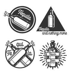Vintage tequila emblems vector