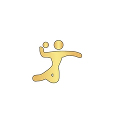 Volleyball computer symbol vector image